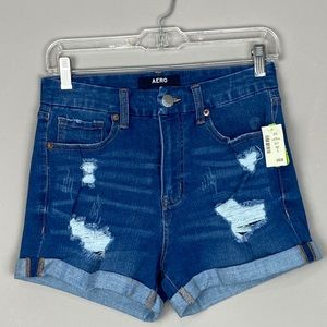 Aeropostale high rise denim/jean shorts size 6